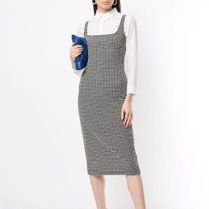 Maryam Nassir Zadeh Salma Gingham Midi Dress